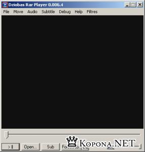 Dziobas RAR Movie Player v.0.008.7 - смотрим недокаченное видео