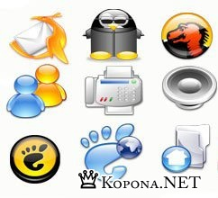 Crystal Clear Icons (383 шт)