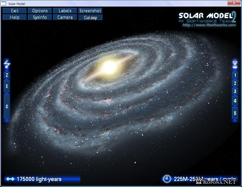 Solar Model 2 - 3D космос