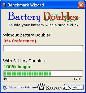 Удвоитель батареи ноутбука - Battery Doubler 1.2.1