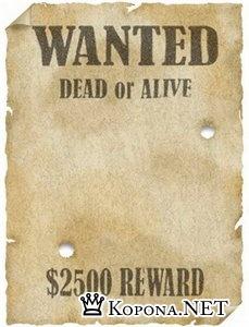 Плакат Wanted, шаблон для фотошопа