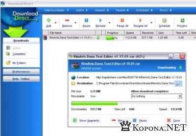 Rapidshare Download Direct 1.2 + Crack for Rapidshare