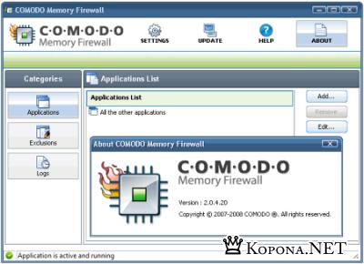 Comodo Memory Firewall 2.0.4.20