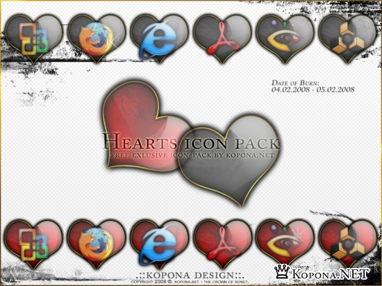 Hearts exclusive icon-pack by Kopona.NET