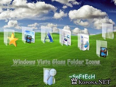 Vista Glass Folder Icons