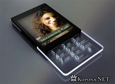 Edge: глянцевая женская трубка со стеклянной клавиатурой