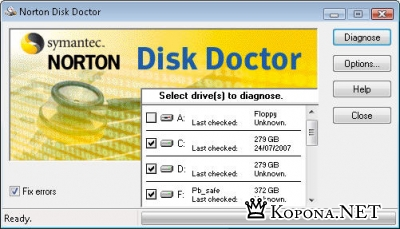 Portable Norton Disk Doctor 2007
