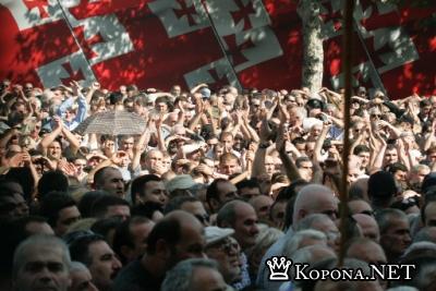 Грузинская оппозиция потребовала выхода страны из СНГ