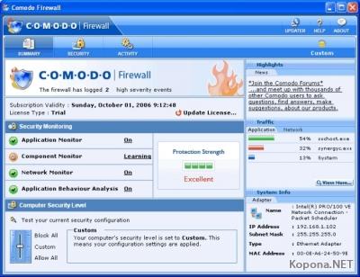 Comodo Firewall Pro 3.0.20.320