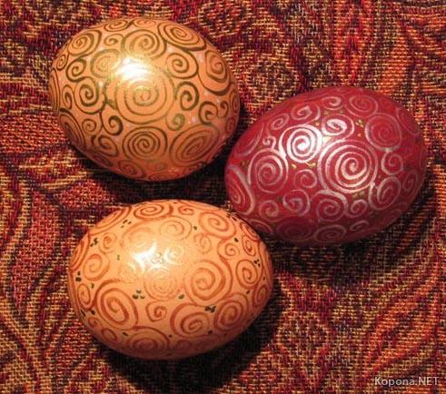 Крашенные яйца. Пасха