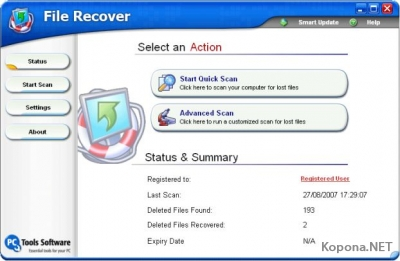 PcTools File Recover v6.2.0.20 Multilingual