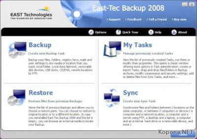 East-Tec Backup 2008 v2.0.1.11