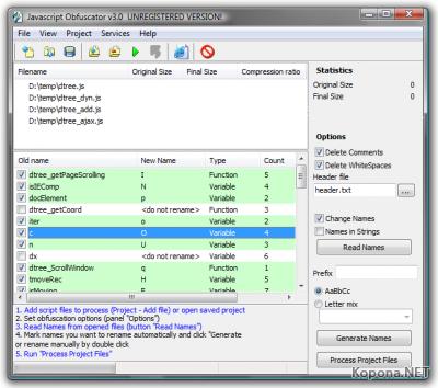 Javascript Obfuscator 3.0.5.0