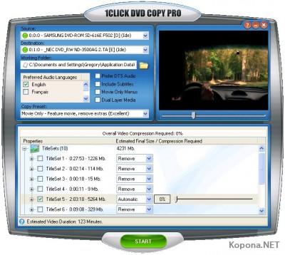 1CLICK DVD Copy Pro 3.1.6.1