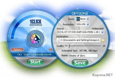 1CLICK DVDTOIPOD 1.1.4.1