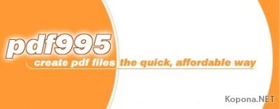 Pdf995 pdfEdit995 v8.1 / Pdf995 Printer Driver v8.4