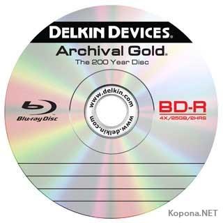 Blu-ray диск Delkin сохранит 25 Гб данных в течение 200 лет