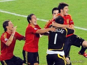 В полуфинале Россия играет с Испанией