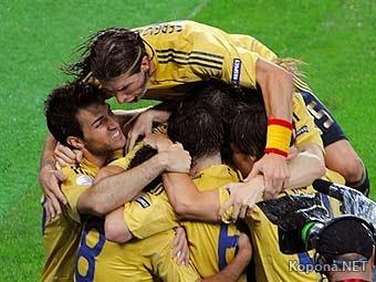 Сборная Испании разгромила Россию в полуфинале Евро-2008