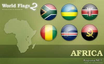 World Flag Icons set 2 - Africa