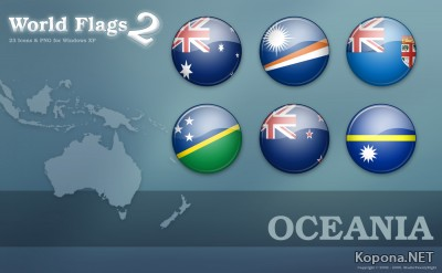World Flags Icon Set 2 - Oceania