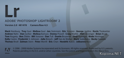 Adobe Photoshop Lightroom v2.0 Mac OS X