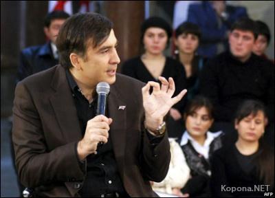 """Саакашвили """"занялся бегом"""" на глазах журналистов"""