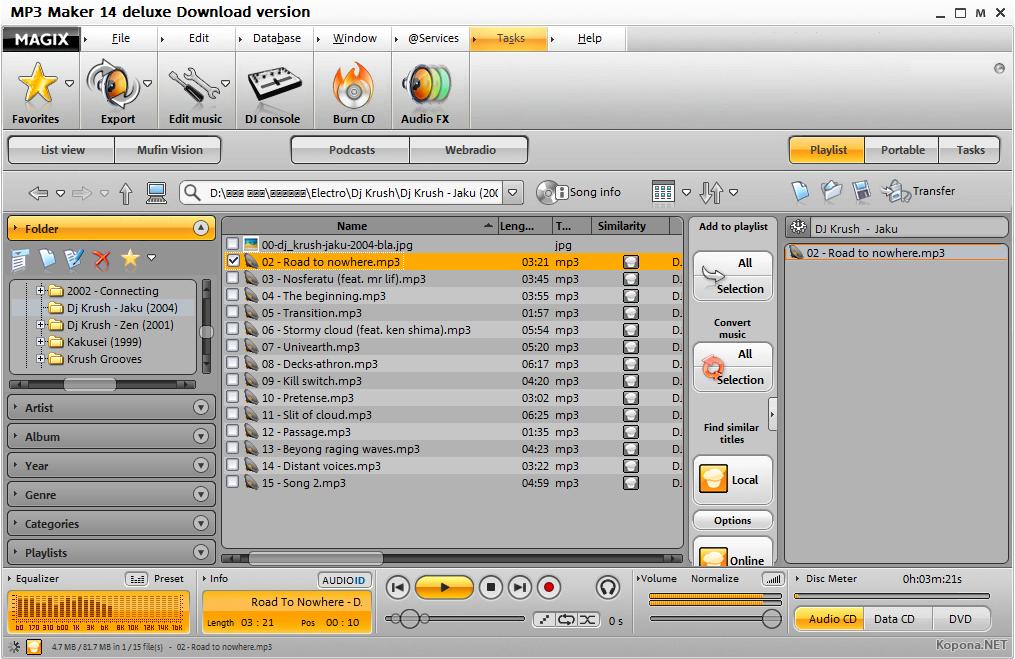 MAGIX music maker (free) download Windows version