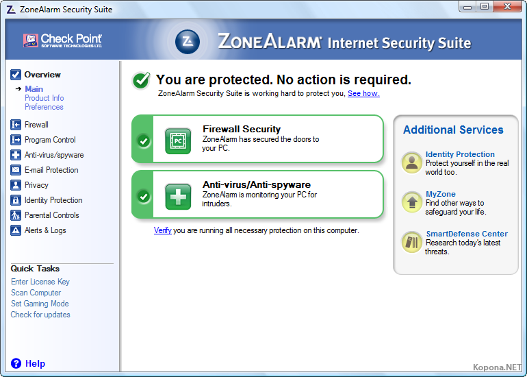 Zonealarm internet security suite 8