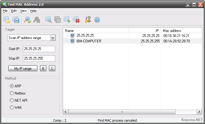 how to look for mac address on windows 7