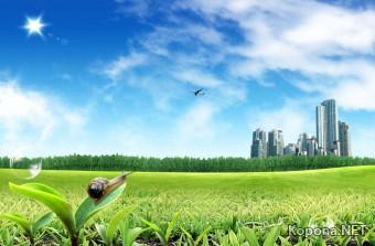 Красивый пейзажно-индустриальный PSD-исходник - 12 (PSD)