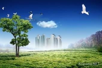 Красивый пейзажный PSD-исходник - 13 (PSD)