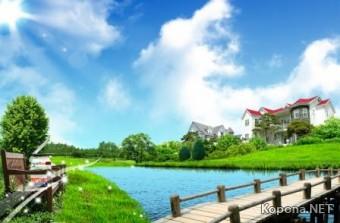 Красивый пейзажный PSD-исходник - 29 (PSD)