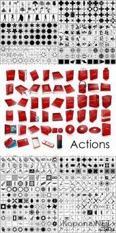 Набор ФИГУР и набор ЭКШЕНОВ для Adobe Photoshop (CSH и ATN)