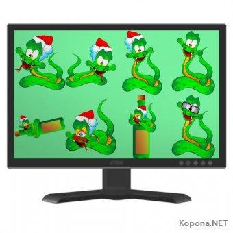Символ 2013 года - Года Змеи - 05 (PNG)