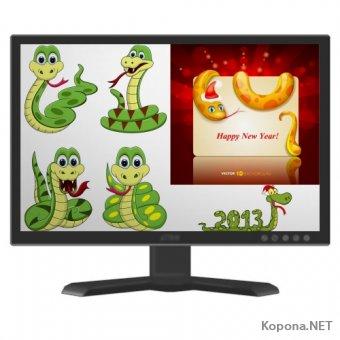 Символ 2013 года - Года Змеи - 07 (EPS, Ai)