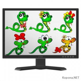 Символ 2013 года - Года Змеи - 09 (PNG, EPS)