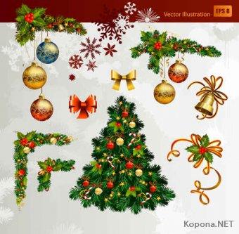 Новый год - Рождество - 08 (Ai, EPS)