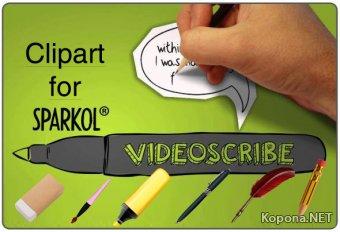 Клипарт для программы Sparkol VideoScribe (PNG)