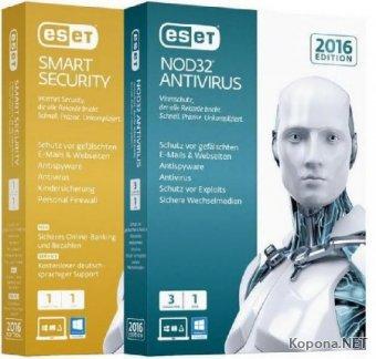 ESET Smart Security + NOD32 Antivirus 9.0.375.1 Final (2016/RUS)