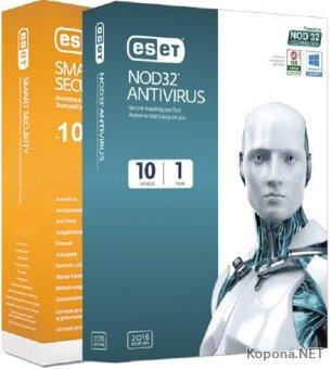 ESET NOD32 Antivirus / Smart Security 10.0.369.1 Final (2016/RUS)