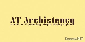 Шрифт AT Archistency