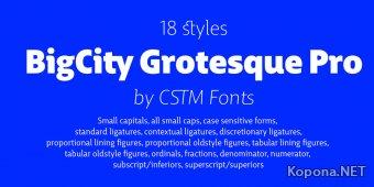 Шрифт BigCity Grotesque Pro Black