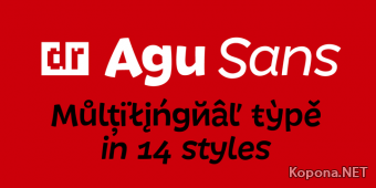 Шрифт DR Agu Sans