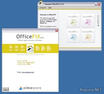 Cimaware OfficeFIX Professional 6.118 and Portable (2017)