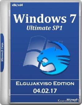 Windows 7 Ultimate SP1 x86/x64 Elgujakviso Edition v.04.02.17 (RUS/2017)