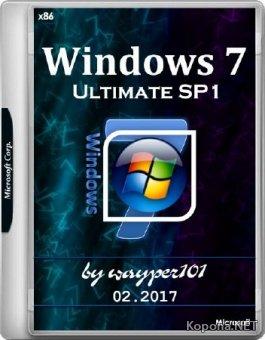 Windows 7 Ultimate SP1 by wayper101 02.2017 (x86/RUS)