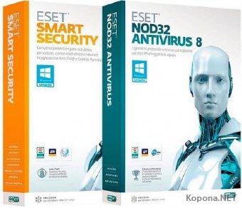 ESET NOD32 Antivirus / Smart Security 8.0.319.1 RePack by KpoJIuK (04.08.2017)
