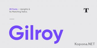 Шрифт Gilroy (TTF)