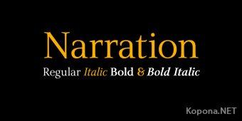 Шрифт NarrationSRB (TTF)